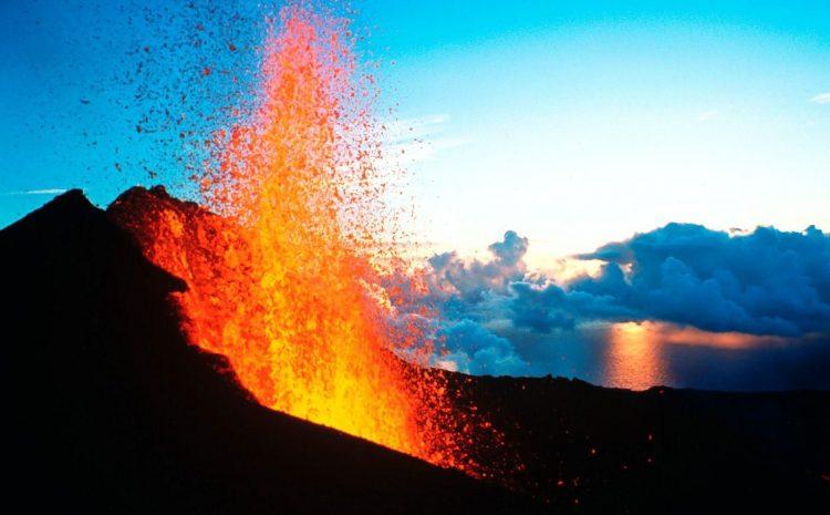 Olhando o vulcão